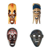 African masks (collection) — Stock Photo