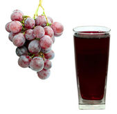 Grape juice and grape — Stock Photo