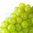 Green grapes in a glass bowl — Stock Photo #1037817