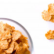 Cornflakes in glass bow — Stock Photo #1037851