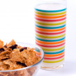 Cornflakes and glass of milk — Stock Photo #1037853