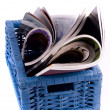 Stock Photo: Basket of Magazines
