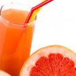 Juice and grapefruit — Stock Photo