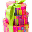 Colorful gift boxes — Stock Photo #1038419