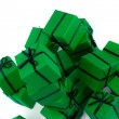 Royalty-Free Stock Photo: Green gift boxes
