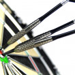 Darts and target — Stock Photo