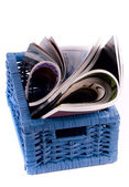 Basket of Magazines — Stock Photo