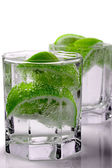 Water with lime — Stock Photo