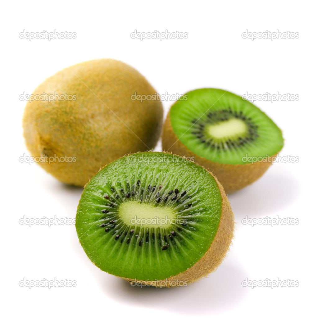 Some kiwi on white background — Stock Photo #1039120