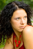 Beautiful brunet woman — Stock Photo