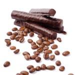 Chocolate bars and coffee — Stock Photo #1070311
