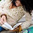 Woman reading a book — Foto de Stock