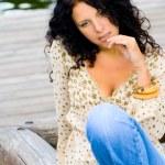 Beautiful brunet woman — Stock Photo #1072464