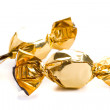 Stock Photo: Two golden sweets