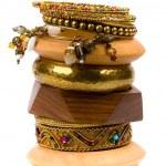 Stack of bracelets — Stock Photo