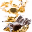 Stock Photo: Opened foil candy