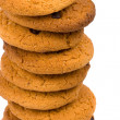 Stock Photo: Stack of oatmeal cookies