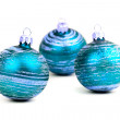 Blue christmas balls — Stock Photo #1074102