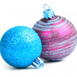 Two glass christmas balls — Stock Photo