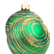 Two green christmas balls — Stock Photo #1075306