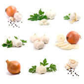 Garlic and onion — Stock Photo