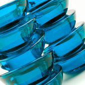 Blue glass abstraction — Stock Photo