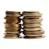 Two coins stacks — Stock Photo
