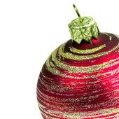 Rött glas christmas ball — Stockfoto