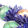 ストック写真: Christmas balls and tinsel