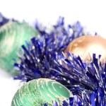 enfeites e bolas de Natal — Foto Stock
