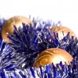 Foto de Stock  : Christmas balls and tinsel