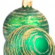 Two green christmas balls — Stock Photo #1159510
