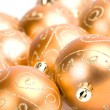 Royalty-Free Stock Photo: Golden glass christmas balls