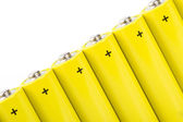 Yellow alkaline batteries — Stock Photo