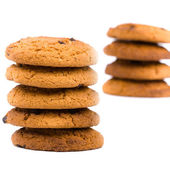Two stacks of cookies — Stock Photo