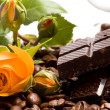 Stock Photo: Chocolate, coffee, cinnamon and yellow f