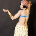 Attractive woman dances — Stock Photo