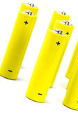 Yellow alkaline batteri — Stock Photo