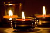 三个蜡烛 — 图库照片
