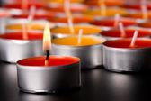 Candela fiammeggiante — Foto Stock