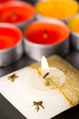 Flaming candle — Stock Photo