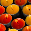 Flaming candles - Stockfoto