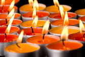 Flaming candles — Stockfoto