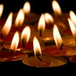 Flaming candles - Photo
