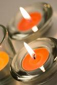 две свечи — Стоковое фото