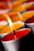 Velas em chamas — Foto Stock