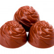 Three chocolate sweets — Stock Photo