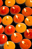Flaming candles — Foto de Stock