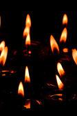 Płonące świece — Zdjęcie stockowe
