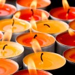 Stock Photo: Flaming candles